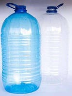 Пластиковая бутылка, 10 л, 21 шт в упаковке, в коплекте с крышкой и ручкой
