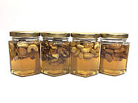 Мёд с орехами, (230 г - мед, 40 г - орехи), фото 1