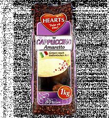 Капучино Амаретто, Hearts Cappuccino Amaretto, растворимый напиток 3 в 1, 1 кг