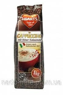 Капучино зі смаком какао, Hearts Cappuccino mit feiner Kakaonote, розчинний напій 3 в 1, 1 кг