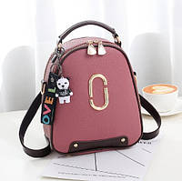 Женский мини рюкзак с брелком O-bag pink