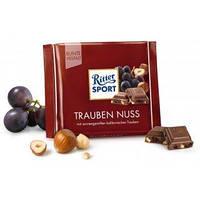 Шоколад Ritter Sport Trauben Nuss (Риттер Спорт с изюмом и фундуком), 100 г