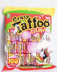 Жевательная резинка Crazy Gum Tattoo 100 шт