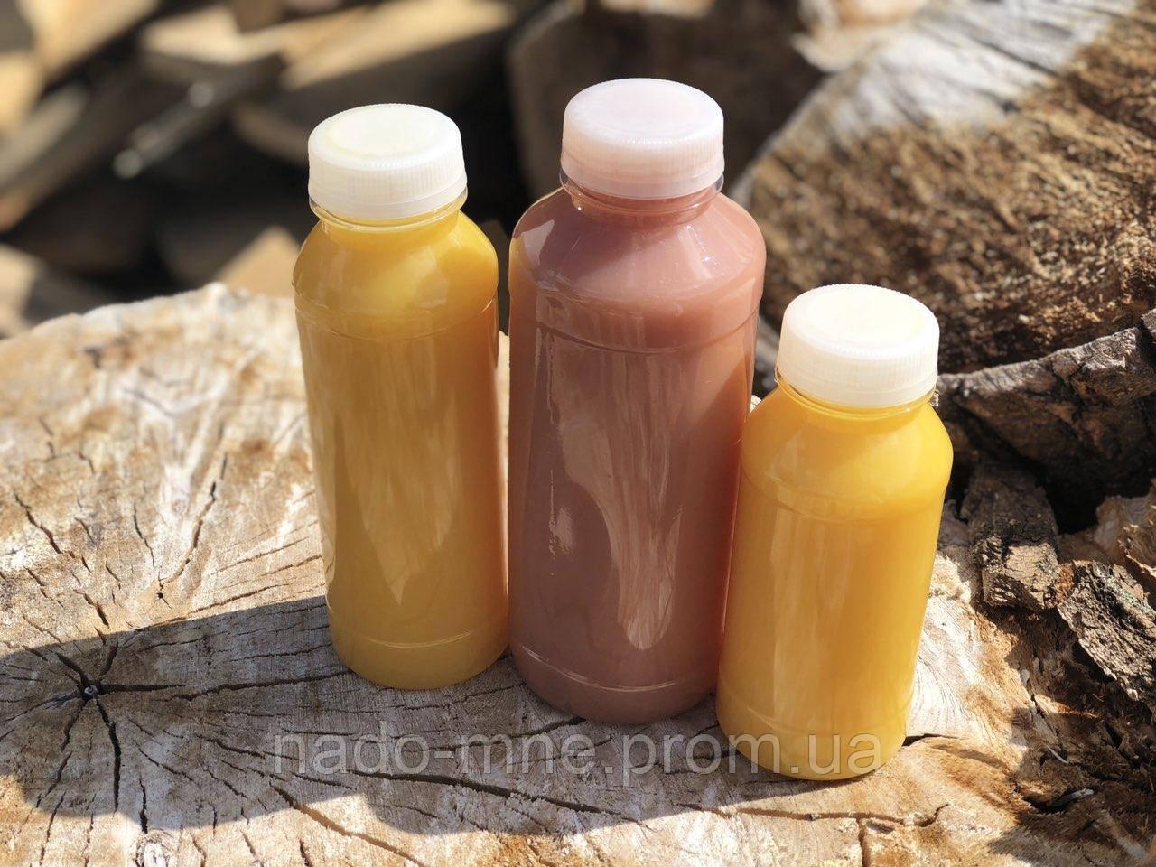 Бутылка пластиковая под соки, c широким горлом 330 мл. Доставка по Киеву от 50 штук в упаковке.