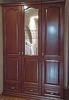 """Шкаф деревянный с зеркалом """"Трио-4"""" sh3.4"""