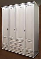 """Шкаф белый деревянный для одежды """"Квартет-1"""" sh4.1"""