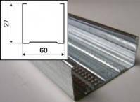Профиль CD 60/27/3 м.п. оцинкованный для гипсокартона толщина металла 0,40 мм.