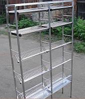 Стеллаж для сушки посуды 1200*250 2 секции по 5 полок