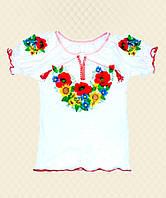 Вышиванка для девочки Маричка-Подсолнух короткий рукав интерлок