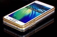 Бампер металлический для Samsung A300H Galaxy A3 Gold