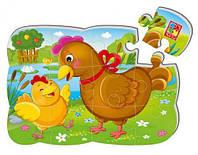 """Магнитные пазлы """"Курочка и цыплёнок"""" (12 деталей) VT3205-61"""