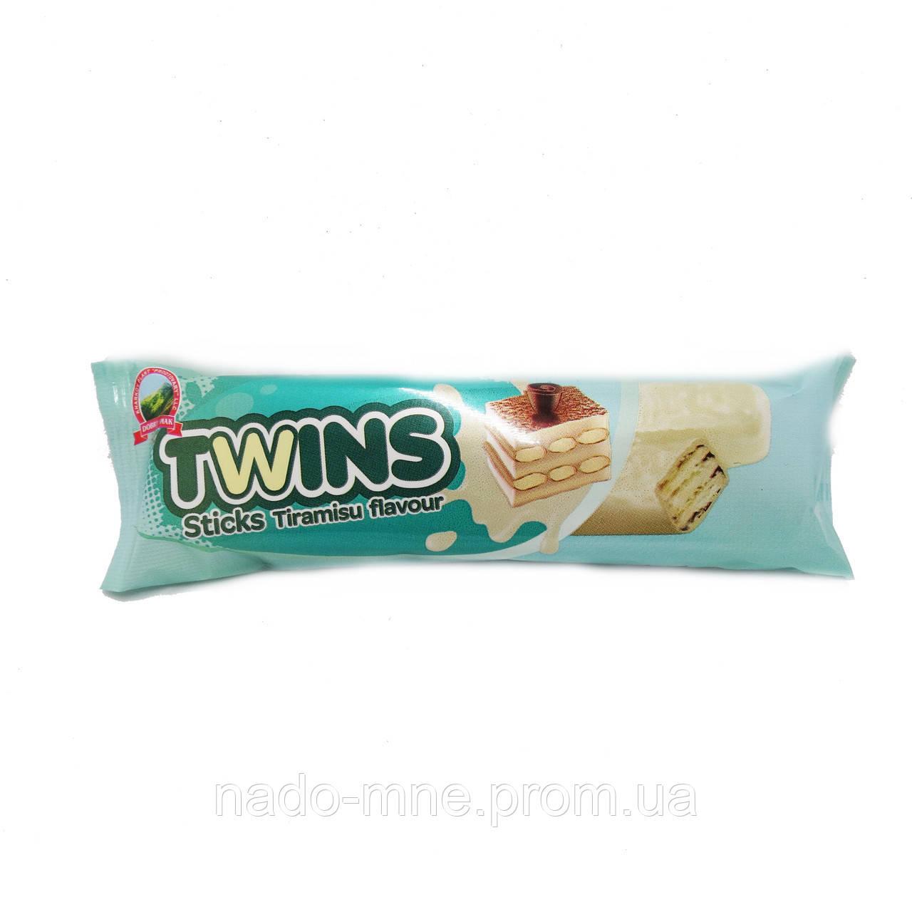 Вафли twins со вкусом тирамису в белой глазури