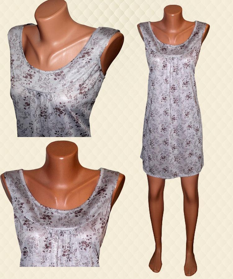 Платье-туника женская серая