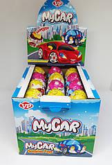 Яйцо шоколадное «Машинки» с игрушкой 24шт Турция