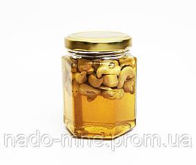 Мёд с кешью, (230 г - мед, 40 г - орехи)