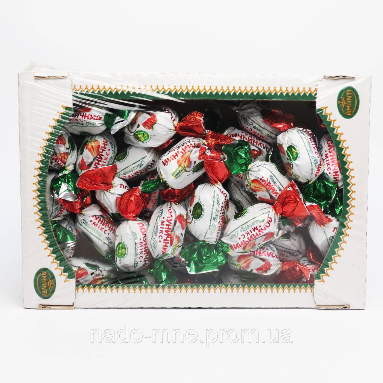 """Конфеты """"Клубничный микс"""", Amanti, Украина, 1 кг."""