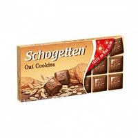 Schogetten oat cookies молочный шоколад с кусочками овсяного печенья 100г