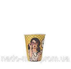 Бумажные стаканы поп-арт 175мл 50шт.уп (1ящ/54уп/2700шт) (КР69)