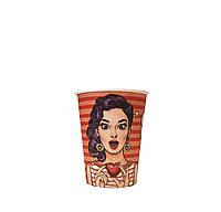 Бумажные стаканы поп-арт 250мл 50шт.уп (1ящ/40уп/2000шт) (КР77)