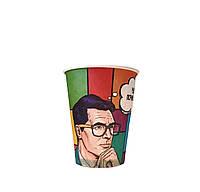 Бумажные стаканы поп-арт 400мл 50шт.уп (1ящ/20уп/1000шт) (КР90)