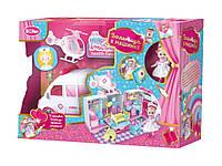 Игровой набор Больница в машинке с куклой и аксессуарами Розовый