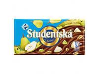 Шоколад Studentska 180 г,  молочный с грушей и арахисом, Чехия