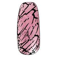 NE-6T Трескающийся лак для ногтей №13 (розовый с блестками)