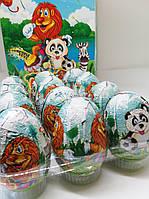 Яйцо шоколадное« Джунгли» с игрушкой 24шт Турция, фото 1