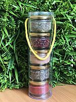 Подарочный набор из специй : базилик, для мяса, майоран, аджика сухая, гвоздика, фото 1