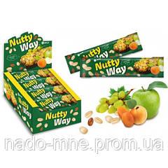 Батончик-мюсли с орехами и фруктами Nutty Way, 40г
