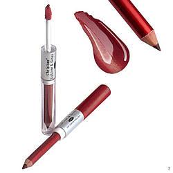 Рідка помада і олівець для губ Christian № 07 DY-060