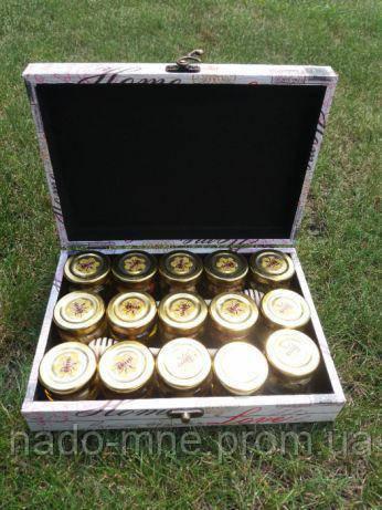 Подарочный набор меда с орехами, 15 шт