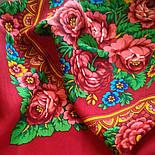 Матрешка 190-5, павлопосадский платок шерстяной с шерстяной бахромой, фото 4