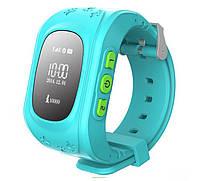 Детские умные часы Smart Watch с GPS-треккером Q50 Голубые