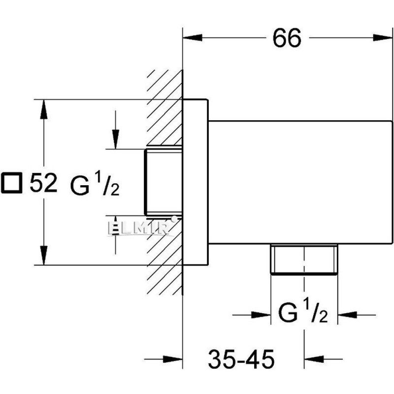 Подключение для душевого шланга Grohe Euphoria Cube 27704000