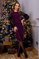 Платье женское 2886 фиолетовое размер 42