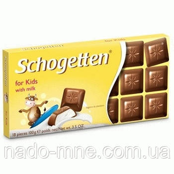 Шоколад Schogetten for Kids with Milk, 100 г.