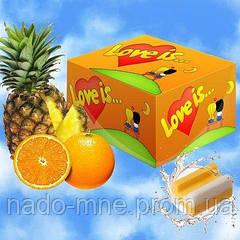 Жевательные резинки Love is апельсин-ананас блок - 100 шт
