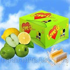 Жевательные резинки Love is яблоко-лимон, блок -100 шт