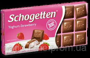 """Шоколад """"Schogetten"""" Yoghurt-Strawberry, 100 г"""