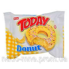 Пончик Today Donut банановый, 45 г (Донат Банан).
