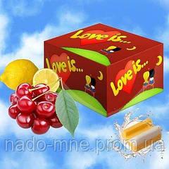 Жевательные резинки Love is вишня-лимон блок - 100 шт
