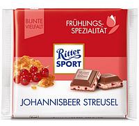 Шоколад Ritter Sport Риттер Спорт Смородина + печенье, 100 г. Германия