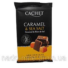 """Молочный шоколад Cachet """"Карамель & Морская соль"""" XXL"""