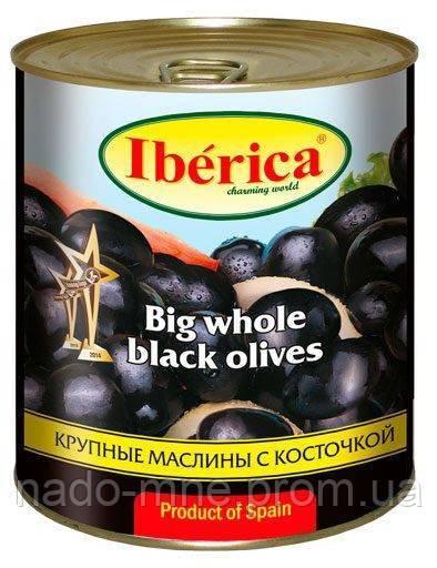 Маслини чорні величезні з кісточкою Iberica 3 кг