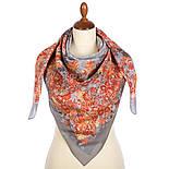 10600-2, павлопосадский платок хлопковый (батистовый) с швом зиг-заг, фото 2
