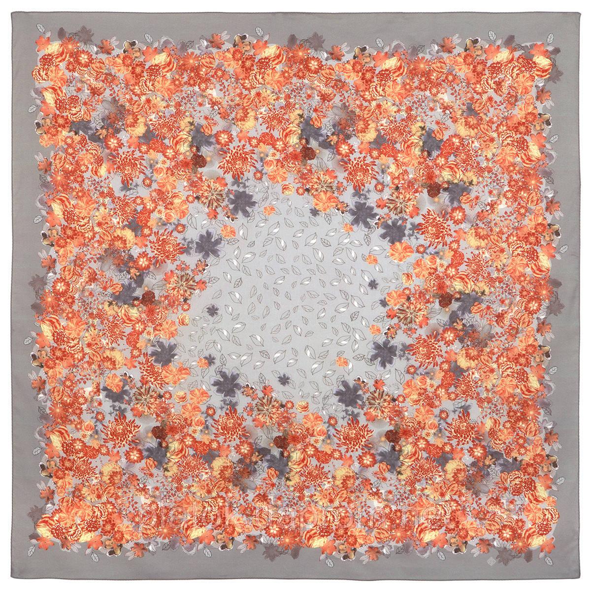 10600-2, павлопосадский платок хлопковый (батистовый) с швом зиг-заг