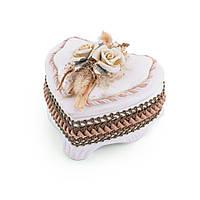 Шкатулка керамическая сердце 12х13х6 см (44107.001)