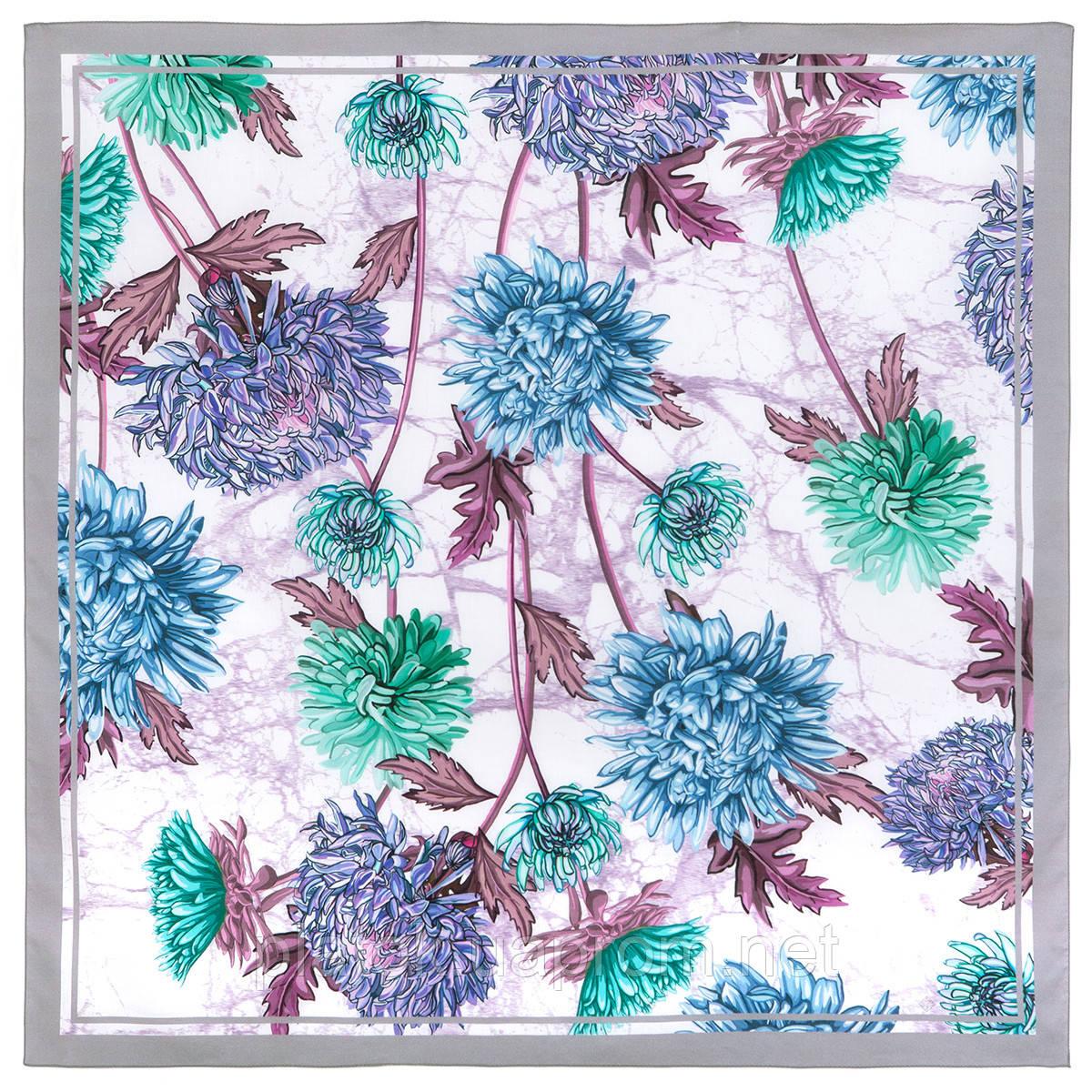 10603-2, павлопосадский платок хлопковый (батистовый) с швом зиг-заг