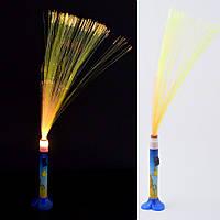 Ночник светильник на батарейках Фейерверк 40 см сине-оранжевый со львом (43602.001)